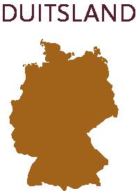 Duitsland wijnkaart