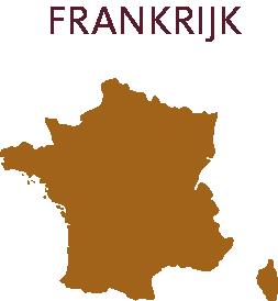 Frankrijk wijnkaart